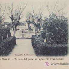 Postales: LA CORUÑA: SEPULCRO DE JOHANNES MOORE. LIBRERÍA DE LINO PÉREZ Nº 81.FOTO J. GONZÁLEZ ANTERIOR A 1906. Lote 215244531