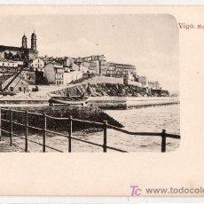 Postales: TARJETA POSTAL DE VIGO, PONTEVEDRA. MUELLE DE PIEDRA. Lote 24855422