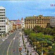 Postales: POSTAL LA CORUÑA AVENIDA DE LOS CANTONES Y JARDINES. Lote 16414217