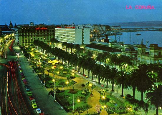 POSTAL LA CORUÑA AVENIDA DE LOS CANTONES Y JARDINES (Postales - España - Galicia Moderna (desde 1940))