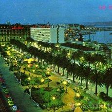 Postales: POSTAL LA CORUÑA AVENIDA DE LOS CANTONES Y JARDINES. Lote 16414714