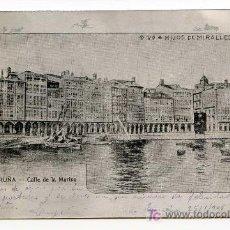 Postales: LA CORUÑA. CALLE DE LA MARINA. VDA E HIJOS DE MIRALLES. ESCRITA EN 1905 ALUMINIO REVERSO SIN DIVIDIR. Lote 26484309