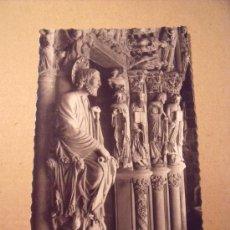 Postales: POSTAL DE LA CATEDRAL DE SANTIAGO DE COMPOSTELA 65 PORTICO DE LA GLORIA DETALLE. SIN CIRCULAR P-1499. Lote 16928986