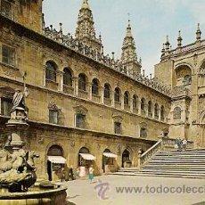 Postales: SANTIAGO DE COMPOSTELA - PLAZA DE LAS PLATERIAS. Lote 16958679