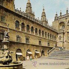 Postales: SANTIAGO DE COMPOSTELA - PLAZA DE LAS PLATERIAS. Lote 17102516
