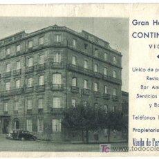 Postales: POSTAL PUBLICITARIA DE VIGO, GRAN HOTEL CONTINENTAL. Lote 27262471