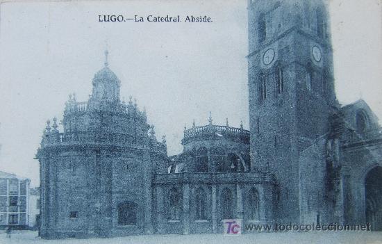 LUGO: LA CATEDRAL. ÁBSIDE. EDICIONES GRAFOS Nº 3. AÑOS 20 (Postales - España - Galicia Antigua (hasta 1939))