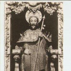 Postales: SANTIAGO DE COMPOSTELA - CATEDRAL - ESFIGIE PÉTREA DEL APOSTOL 1948. Lote 26337215