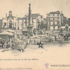 Postales: EL FERROL - OBELISCO DE CHURRUCA EN LA PLAZA DE ARMAS - .. Lote 23266803