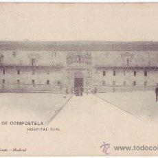 Postales: SANTIAGO DE COMPOSTELA: HOSPITAL REAL. HAUSER Y MENET. REVERSO SIN DIVIDIR. NO CIRCULADA (C.1900). Lote 24719276
