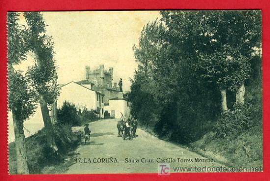 LA CORUÑA, SANTA CRUZ, CASTILLO TORRES MORENO, P36348 (Postales - España - Galicia Antigua (hasta 1939))