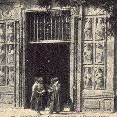 Postales: POSTAL SANTIAGO. CAMPESINAS EN LA PUERTA SANTA.. Lote 18351396