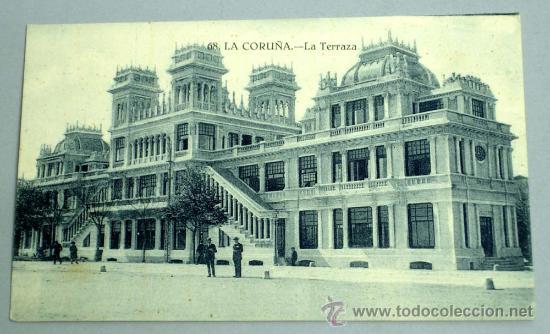 POSTAL LA CORUÑA LA TERRAZA (Postales - España - Galicia Antigua (hasta 1939))