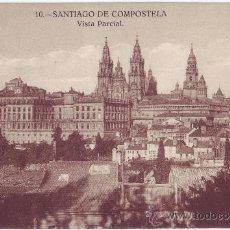 Postales: SANTIAGO DE COMPOSTELA: VISTA PARCIAL. HELIOTIPIA DE KALLMEYER Y GAUTIER. NO CIRCULADA (AÑOS 20). Lote 23953427
