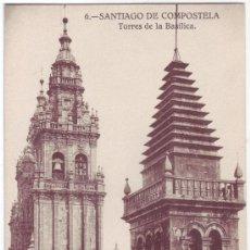 Postales: SANTIAGO DE COMPOSTELA: TORRES DE LA BASÍLICA. KALLMEYER Y GAUTIER. NO CIRCULADA (AÑOS 20). Lote 23953434
