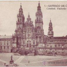 Postales: SANTIAGO DE COMPOSTELA: CATEDRAL. FACHADA DEL OBRADOIRO. KALLMEYER Y GAUTIER. NO CIRCULADA (AÑOS 20). Lote 23953438