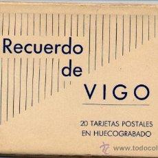 Postales: ÁLBUM CON 20 POSTALES DE VIGO EN HUECOGRABADO HAUSER Y MENET. Lote 18586025