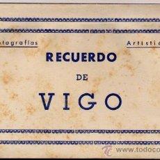 Postales: VIGO (PONTEVEDRA).- ÁLBUM DE 10 FOTOGRAFÍAS ARTÍSTICAS RECUERDO DE VIGO. Lote 19279419