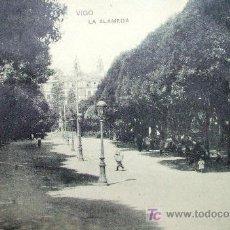 Postales: VIGO: PONTEVEDRA. LA ALAMEDA. E.B. TETILLA. AÑOS 20. Lote 19918463