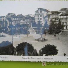 Postales: FERROL DEL CAUDILLO. Nº 4 PLAZA DEL MARQUÉS DE AMBOAGE. ED. ARRIBAS. ESCRITA 1951. Lote 20511570