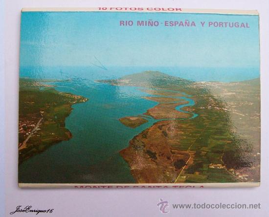 Postales: 9 FOTOS COLOR, MONTE SANTA TECLA. ESPAÑA Y PORTUGAL - LA GUARDIA PONTEVEDRA - RIO MIÑO - Foto 2 - 36882116
