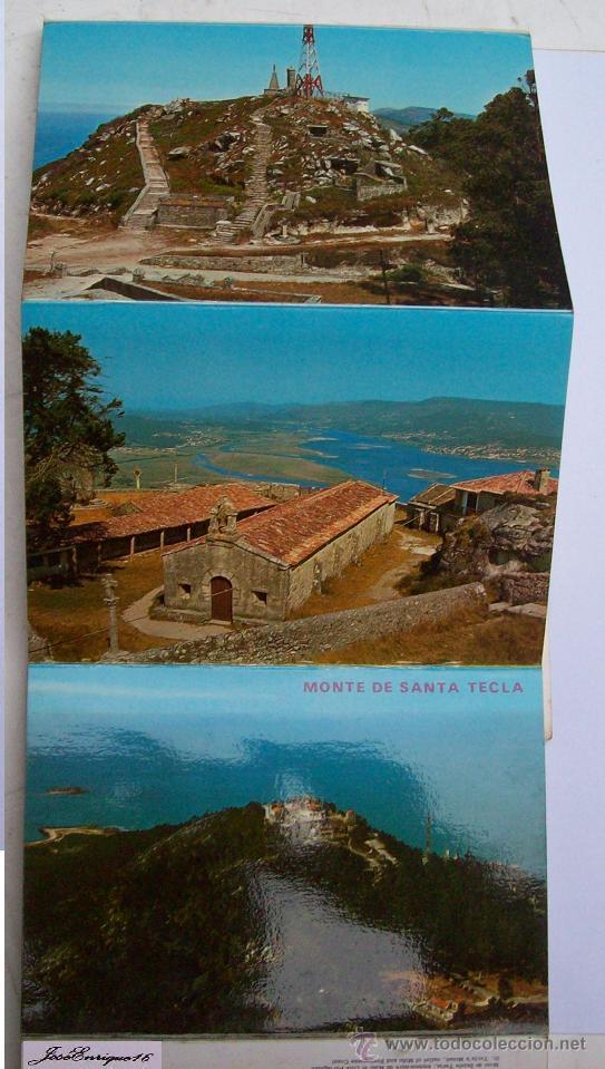 Postales: 9 FOTOS COLOR, MONTE SANTA TECLA. ESPAÑA Y PORTUGAL - LA GUARDIA PONTEVEDRA - RIO MIÑO - Foto 3 - 36882116