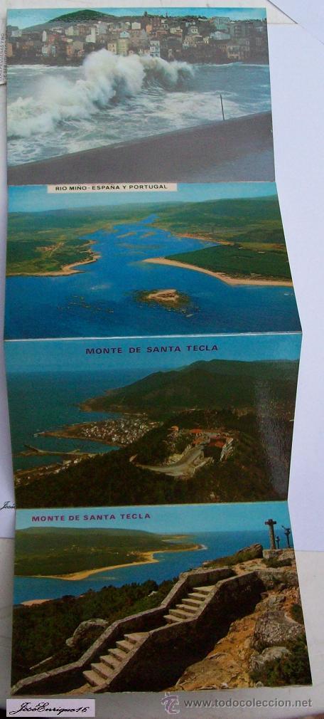Postales: 9 FOTOS COLOR, MONTE SANTA TECLA. ESPAÑA Y PORTUGAL - LA GUARDIA PONTEVEDRA - RIO MIÑO - Foto 4 - 36882116