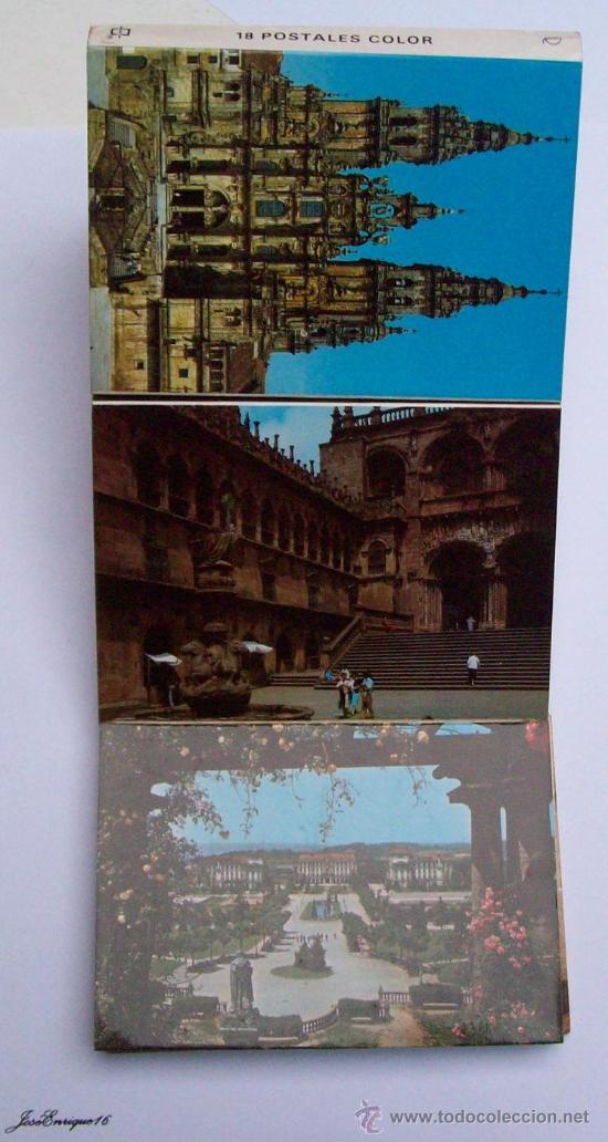 Postales: 18 POSTALES COLOR, SANTIAGO DE COMPOSTELA. POSTCARDS. 18 cartes postales en couleurs - Foto 3 - 25116363