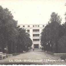 Postales: PS2396 LA TOJA 'UNA AVENIDA DEL PARQUE Y GRAN HOTEL'. Nº 5. GALICIA TURÍSTICA. CIRCULADA EN 1953. Lote 20229803