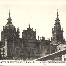 Postales: PS2603 SANTIAGO DE COMPOSTELA 'LAS TORRES DE LA CATEDRAL. LA AZABACHERÍA'. L. ROISÍN. ESCRITA. Lote 20244510