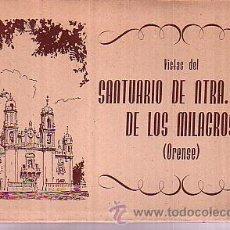 Postales: ORENSE: VISTAS DEL SANTUARIO DE NTRA. SRA.DE LOS MILAGROS (10 POSTALES SEPIA). Lote 20525269