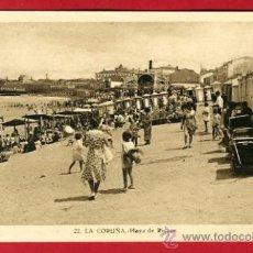 Cartoline: LA CORUÑA, PLAYA DE RIAZOR, P41736. Lote 21375899