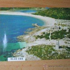 Postales: 10 POSTALES IGUALES ISLAS CIES EDITADAS POR FAMA VIGO Nº 3175 APROX 1980 S/C PERFECTAS CORREO 1€. Lote 21602277