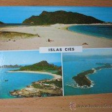 Postales: 10 POSTALES IGUALES ISLAS CIES EDITADA FAMA VIGO Nº 3789 APROX 1980 S/C PERFECTAS CORREOS 1€. Lote 21602301