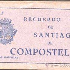 Postales: RECUERDO DE SANTIAGO DE COMPOSTELA.- 20 VISTAS ARTÍSTICAS.- SERIE B. Lote 21650572