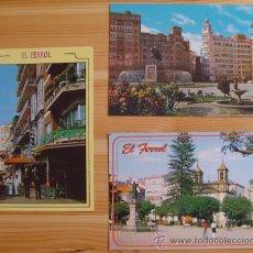 Postales: LOTE DE 3 POSTALES EL FERROL (A CORUÑA.- GALICIA).. Lote 21760964
