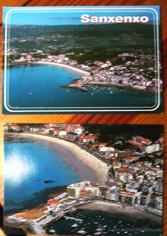 LOTE DE 2 POSTALES DE SANXENXO (PONTEVEDRA.- GALICIA) (Postales - España - Galicia Moderna (desde 1940))