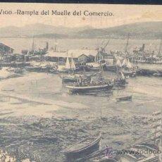 Postales: VIGO (PONTEVEDRA).- RAMPLA DEL MUELLE DEL COMERCIO. Lote 21994032