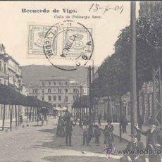 Postales: VIGO (PONTEVEDRA).- CALLE DE POLICARPO SANZ. Lote 21994074