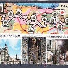 Postales: RECUERDO DEL CAMINO DE SANTIAGO - SANTIAGO DE COMPOSTELA. Lote 22146610