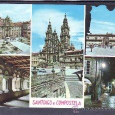 Postales: RECUERDO DE SANTIAGO DE COMPOSTELA. Lote 22147444