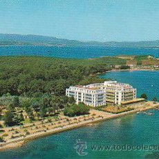 Postales: LA TOJA (PONTEVEDRA), VISTA AEREA DEL GRAN HOTEL, CIRCULADA EN 1967 (VER DORSO). Lote 22370327