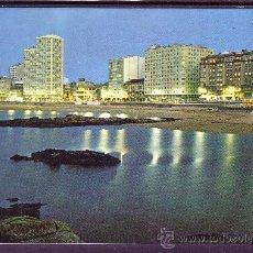 Postales: PLAZA DE RIAZOR NOCTURNA - LA CORUÑA. Lote 22817960