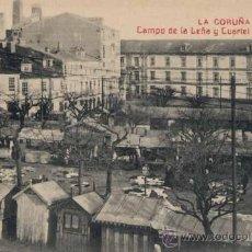 Postales: LA CORUÑA.- CAMPO DE LEÑA Y CUARTEL DE ALFONSO XII. Lote 23099943