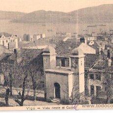 Postales: TARJETA POSTAL DE VIGO. VISTA DESDE EL CASTRO.. Lote 23513386