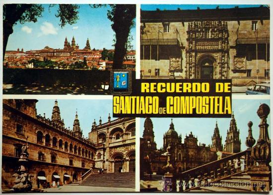 SANTIAGO DE COMPOSTELA. RECUERDO DE SANTIAGO DE COMPOSTELA. (Postales - España - Galicia Moderna (desde 1940))