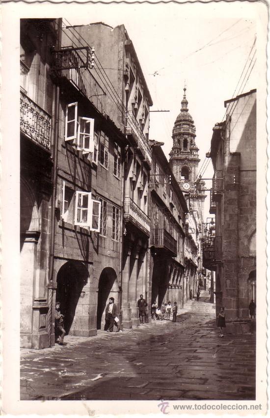 Nº 3993 POSTAL SANTIAGO DE COMPOSTELA RUA DEL VILLAR GALICIA (Postales - España - Galicia Moderna (desde 1940))