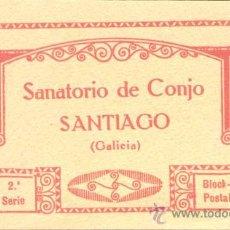 Postales: ÁLBUM DEL SANATORIO DE CONJO-SANTIAGO (GALICIA).- 2ª SERIE 22 POSTALES. Lote 24476375