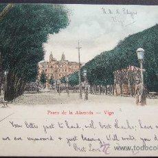 Postales: VIGO – PASEO DE LA ALAMEDA – PROPIEDAD DE D. DESIDERIO ADE – VIGO, PRÍNCIPE NO 5. PROVEEDOR DE LA RE. Lote 24620791