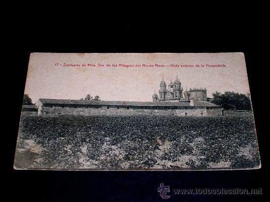 ANTIGUA POSTAL SANTUARIO NTRA. SRA. DE LOS MILAGROS DEL MONTE MEDO. VISTA EXTERIOR HOSPEDERÍA. (Postales - España - Galicia Antigua (hasta 1939))